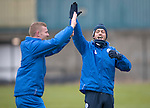 St Johnstone Training&hellip;09.12.16<br />Brian Easton and Murray Davidson pictured during training at McDiarmid Park this morning..<br />Picture by Graeme Hart.<br />Copyright Perthshire Picture Agency<br />Tel: 01738 623350  Mobile: 07990 594431