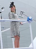 Kate, Duchess Of Cambridge formally names Royal Princess cruise ship