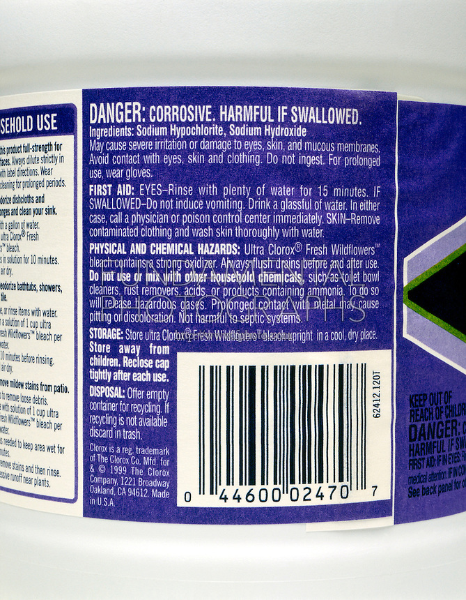 HOUSEHOLD CHLORINE BLEACH<br />