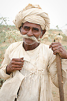 A Rabari shepherd in the Kutch region of Gujarat.
