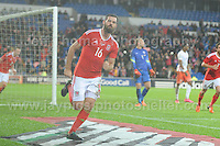 during the Wales v Netherlands Vauxhall International friendly at the Cardiff City stadium on Friday 13th Nov 2015<br /> <br /> <br /> Jeff Thomas Photography -  www.jaypics.photoshelter.com - <br /> e-mail swansea1001@hotmail.co.uk -<br /> Mob: 07837 386244 -