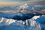 Aerial view of Glacier Peak as seen from the northeast on morning of January 16