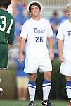 09 September 2011: Duke's Tyler McDaniel. The University of Virginia Cavaliers defeated the Duke University Blue Devils 1-0 at Koskinen Stadium in Durham, North Carolina in an NCAA Division I Men's Soccer game.