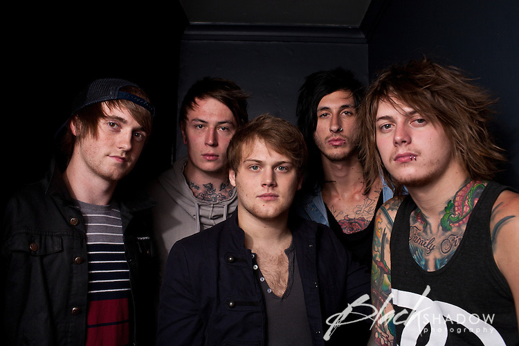 Asking Alexandria backstage at Billboard, Melbourne, 11 October 2011