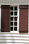 Colonial house White window brown shutters Colonial Williamsburg, Fine Art Photography by Ron Bennett, Fine Art, Fine Art photography, Art Photography, Copyright RonBennettPhotography.com ©