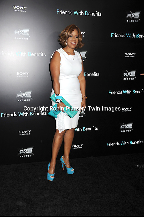 """Gayle King attending the New York Premiere of """"Freinds With Benefits"""" on July 18, 2011 at The Ziegfeld Theatre in New York City. The movie stars Justin Timberlake, Mila Kunis, Emma Stone, Patricia Clarkson, Jenna Elfman and Bryan Greenberg."""