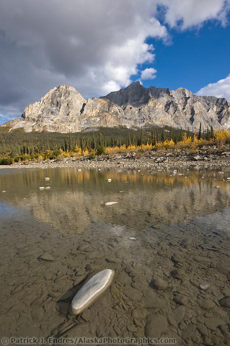 Koyukuk river and Mount Sukakpak, Brooks range, arctic, Alaska.
