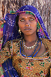 Portrait of a woman, Rajasthan, India