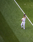6 April 2015: Washington Nationals shortstop Ian Desmond pulls in a pop foul during the Home Opening Game against the New York Mets at Nationals Park in Washington, DC. The Mets rallied to defeat the Nationals 3-1 in their first meeting of the 2015 MLB season. Mandatory Credit: Ed Wolfstein Photo *** RAW (NEF) Image File Available ***
