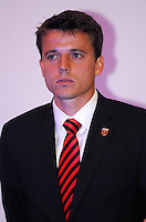 DC United defender Marc Burch, at the 2011 Season Kick off Luncheon, at the Marriott Hotel in Washington DC, Wednesday March 16 2011.