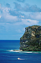 Guam, Micronesia: Two Lover's Point landmark from Tumon Bay.