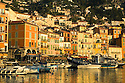 Beautiful marina area in beautiful morning light. Villefranche sur Mer near Nice in the South of France