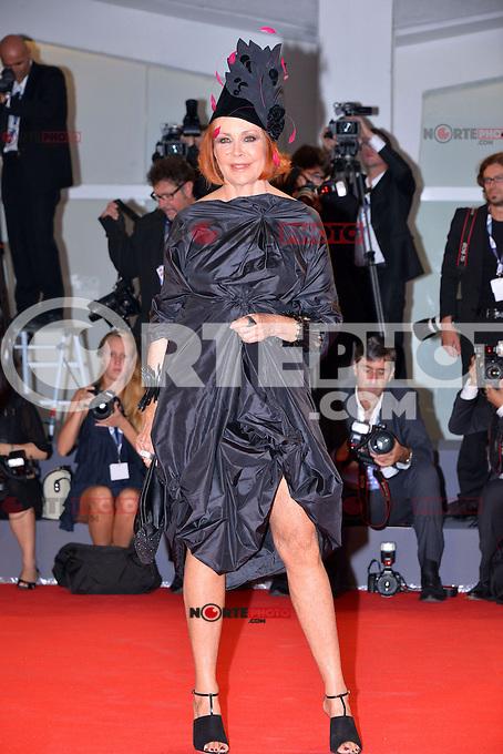 August 30, 2012: Marina Ripa di Meana attends the &quot;Superstar&quot; Screening during the 69th Venice International Film Festival at Palazzo del Casino in Venice, Italy..Credit: &copy; F2F / MediaPunch Inc. /NortePhoto.com<br /> <br /> **CREDITO*OBLIGATORIO** <br /> *No*Venta*A*Terceros*<br /> *No*Sale*So*third*<br /> *** No*Se*Permite*Hacer*Archivo**<br /> *No*Sale*So*third*