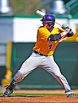 19 April 2009: University at Albany Great Danes' designated hitter Ryan Gugel, a Senior from Batavia, NY, in action against the University of Vermont Catamounts at Historic Centennial Field in Burlington, Vermont. The Great Danes defeated the Catamounts 9-4 in the second game of a double-header. Sadly, the Catamounts are playing their last season of baseball, as the program has been marked for elimination due to budgetary constraints on the University. Mandatory Photo Credit: Ed Wolfstein Photo