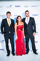 SURFERS PARADISE, Queensland/Australia (Friday, March 1, 2013) - Alejo Muniz (BRA), Silvana Lima (BRA) and Willian Cardosa (BRA). The world's best surfers congregated last night at the QT Hotel in Surfers Paradise to celebrate the 2013 ASP World Surfing Awards, officially crowning last year's ASP World Champions and welcoming in the new year..Joel Parkinson (AUS), 31, long considered to be a threat to the ASP World Title ever since his inception amongst the world's elite over a decade ago, was awarded his maiden crown last night. Amidst a capacity crowd of the world's best surfers and hometown supporters, the Gold Coast stalwart brought the house down with a heartfelt and emotional speech..?It's beautiful to have everyone here tonight,? Parkinson said. ?We all come together and really celebrate last season amongst our friends and family. The new year, for me, begins tomorrow. Tonight, I just feel so fortunate to be up here and to be supported by my beautiful family. I love them and am only here because of them.?.FULL LIST OF AWARDS' RECIPIENTS:.2012 ASP World Champion: Joel Parkinson (AUS).2012 ASP World Runner-Up: Kelly Slater (USA).2012 ASP Rookie of the Year: John John Florence (HAW).2012 ASP Women's World Champion: Stephanie Gilmore (AUS).2012 ASP Women's World Runner-up: Sally Fitzgibbons (AUS).2012 ASP Women's Rookie of the Year: Malia Manuel (HAW).2012 ASP Breakthrough Performer: Sebastian Zietz (HAW).2012 ASP Women's Breakthrough Performer: Lakey Peterson (USA).2012 ASP World Longboard Champion: Taylor Jensen (USA).2012 ASP Women's World Longboard Champion: Kelia Moniz (HAW).2012 ASP World Junior Champion: Jack Freestone (AUS).2012 ASP Women's World Junior Champion: Nikki Van Dijk (AUS).ASP Life Member/Chairman Emeritus: Richard Grellman.ASP Service to the Sport: Randy Rarick.Peter Whittaker Award: Adrian Buchan.2012 ASP Men's Heat of the Year (Fan Vote): Mick Fanning (AUS) vs. Kelly Slater (USA) - Rip Curl Pro Bells Beach.2012 ASP Women's Heat of the Year (