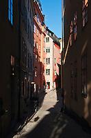 Narrow street, Gamla Stan - Old town, Stockholm, Sweden