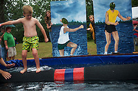 Lumberjack World Championships. Hayward, Wisconsin...logrolling