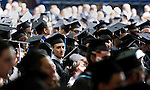 05/19/2013 - Medford/Somerville, MA - Marcus Alpert, A13, looks out across the crowd as students process in to the Phase I ceremony of Tufts University's 157th Commencement on Sunday, May 19, 2013.  (Emily Zilm for Tufts University)