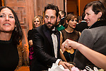 Actor Paul Rudd, center, and actress Rashida Jones, second from right, attend the Bloomberg Vanity Fair White House Correspondents' Association dinner afterparty at the residence of the French Ambassador on Saturday, April 28, 2012 in Washington, DC. Brendan Hoffman for the New York Times