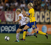 Lori Lindsey, Nilla Fischer. The USWNT defeated Sweden, 3-0.