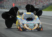 Jun. 18, 2011; Bristol, TN, USA: NHRA funny car driver Jim Head during qualifying for the Thunder Valley Nationals at Bristol Dragway. Mandatory Credit: Mark J. Rebilas-