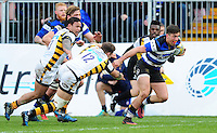 Adam Hastings of Bath Rugby goes on the attack. Aviva Premiership match, between Bath Rugby and Wasps on March 4, 2017 at the Recreation Ground in Bath, England. Photo by: Patrick Khachfe / Onside Images