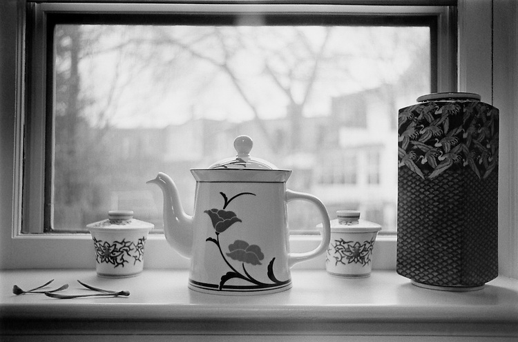 Kitchen window with Capitol Hill in background. April 3, 1991 (Photo by Laura Patterson/CQ Roll Call)