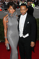 """NEW YORK CITY, NY, USA - MAY 05: Chrissy Teigen, John Legend at the """"Charles James: Beyond Fashion"""" Costume Institute Gala held at the Metropolitan Museum of Art on May 5, 2014 in New York City, New York, United States. (Photo by Xavier Collin/Celebrity Monitor)"""