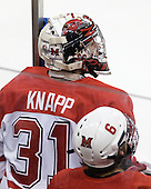 Connor Knapp (Miami - 31) - The University of New Hampshire Wildcats defeated the Miami University RedHawks 3-1 (EN) in their NCAA Northeast Regional Semi-Final on Saturday, March 26, 2011, at Verizon Wireless Arena in Manchester, New Hampshire.