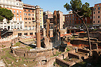 Remains of a Roman temple in the Plazza Navona region of  Rome