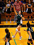 14 November 2010: Mikela Boudette, a Senior on the Vermont Commons Sschool girls volleyball team, in action during the 2010 Vermont State Volleyball Championships at Saint Michael's College in Colchester, Vermont. Participating schools include: the Enosburg Falls Hornets, the Lake Region Union Rangers, the Lyndon Institute Vikings, and the VCS Flying Turtles. The Boys Championship went to Lake Region Union High School, and for the third year in a row, the Girls Championship went to the Vermont Commons School. Mandatory Credit: Ed Wolfstein Photo
