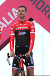 Bauke Mollema (NED) Trek-Segafredo at the Team Presentation in Alghero, Sardinia for the 100th edition of the Giro d'Italia 2017, Sardinia, Italy. 4th May 2017.<br /> Picture: Eoin Clarke | Cyclefile<br /> <br /> <br /> All photos usage must carry mandatory copyright credit (&copy; Cyclefile | Eoin Clarke)