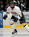 5 January 2007: University of Vermont forward Viktor St&aring;lberg (18) from Gothenburg, Sweden, in action against the University of New Hampshire Wildcats at Gutterson Fieldhouse in Burlington, Vermont. The UNH Wildcats defeated the UVM Catamounts 7-1 in front of a record setting 48th consecutive sellout at &quot;the Gut&quot;.....Mandatory Photo Credit: Ed Wolfstein Photo.<br />