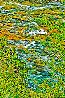 Impressionist view of the Yellowstone River in the fall. Yellowstone National Park