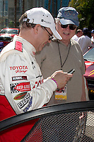 Doug Fregin on a Blackberry at the  Toyota Pro/Celeb Race Day on April 18 ,2009 at the Long Beach Grand Prix course in Long Beach, California..&copy;2009 Kathy Hutchins / Hutchins Photo....                .