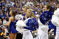 SAN ANTONIO, TX - APRIL 5, 2008: The University of California, Los Angeles Bruins face the University of Memphis Tigers in the first semi-final during the NCAA Men's Basketball Final Four at the Alamodome. (Photo by Jeff Huehn)