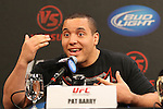 September 29, 2011; Washington D.C.; USA; Pat Barry speaks at the final press conference for his upcoming bout against Stefan Struve at UFC on Versus 6.