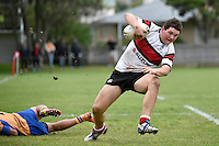 Action from the College Rugby - Scots College v Rongotai Callege at Scots College, Wellington, New Zealand on Saturday 30 May 2015.<br /> Photo by Masanori Udagawa. <br /> www.photowellington.photoshelter.com.