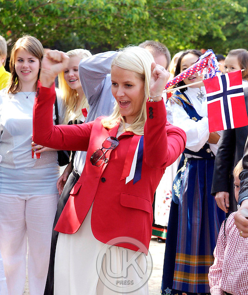 Crown Prince Haakon & Crown Princess Mette Marit of Norway take part in some Norway National Day Celebrations with the Norwegian local community in Busan on the fouth day of their four day visit to South Korea.