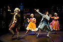 London, UK. 05.12.2012. CINDERELLA THE MIDNIGHT PRINCESS opens at the Rose Theatre, Kingston. Picture shows:  William Postlethwaite (Wolfgang),  Laura Prior (Constanza), Jack Monaghan (Prince Sebastian),  Jenny Bede (Aloysia), Katy Secombe (Fairy Godmother). Photo credit: Jane Hobson.