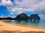 Sandy Beach and Mt Gower, Lord Howe Island