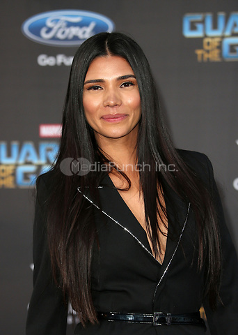 "HOLLYWOOD, CA - April 19: Paloma Jiménez, At Premiere Of Disney And Marvel's ""Guardians Of The Galaxy Vol. 2"" At The Dolby Theatre  In California on April 19, 2017. Credit: FS/MediaPunch"