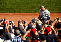 Derek Jeter #2 of the New York Yankees walks back into the dugout following his first at bat that resulted in an out in the first inning against the Boston Red Sox at Fenway Park in his final career game on September 27, 2014 in Boston, Massachusetts. (Photo by Jared Wickerham for the New York Daily News)