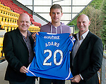 St Johnstone Players Sponsors Night, McDiarmid Park...09.05.12.Jamie Adams.Picture by Graeme Hart..Copyright Perthshire Picture Agency.Tel: 01738 623350  Mobile: 07990 594431
