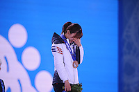 OLYMPICS: SOCHI: Medal Plaza, 13-02-2014, Short Track, Ladies' 500m, Seung-Hi Park (KOR), ©photo Martin de Jong