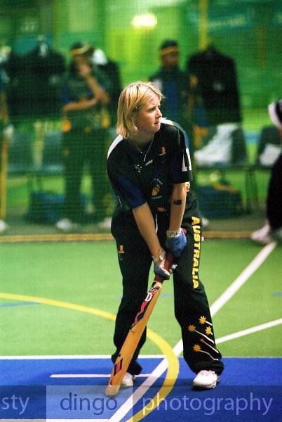Australia Under 19 Girls' Rikki-Lee Rimmington.<br /> 2003 Indoor Cricket World Under 19 Championships, Christchurch, New Zealand