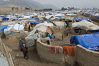 Inside the Quargha Refugee Camp. March 2009