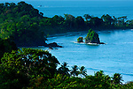 Lush tropical vegetation and stunning shoreline of Manuel Antonio National Park, were the rainforest meets the sea.