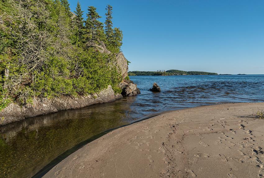 Mouth of Gargantua Creek at Lake Superior, Ontario, Canada.