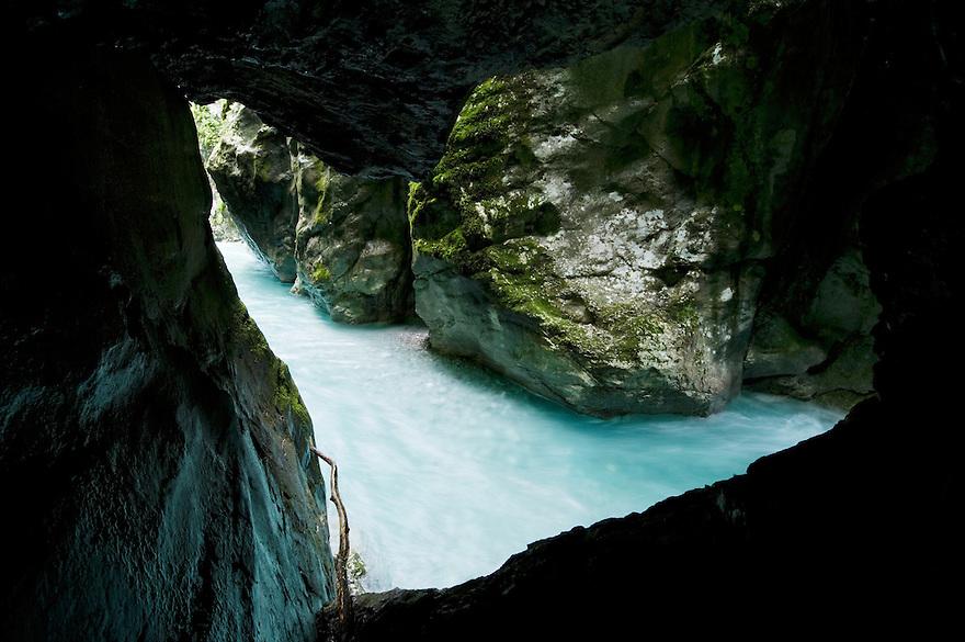 River Tolminka, Tolminka canyon (Tolminska korita)<br /> Triglav National Park, Slovenia<br /> June 2009